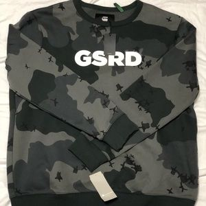 brand new gstar Raw camo crewneck sweatshirt